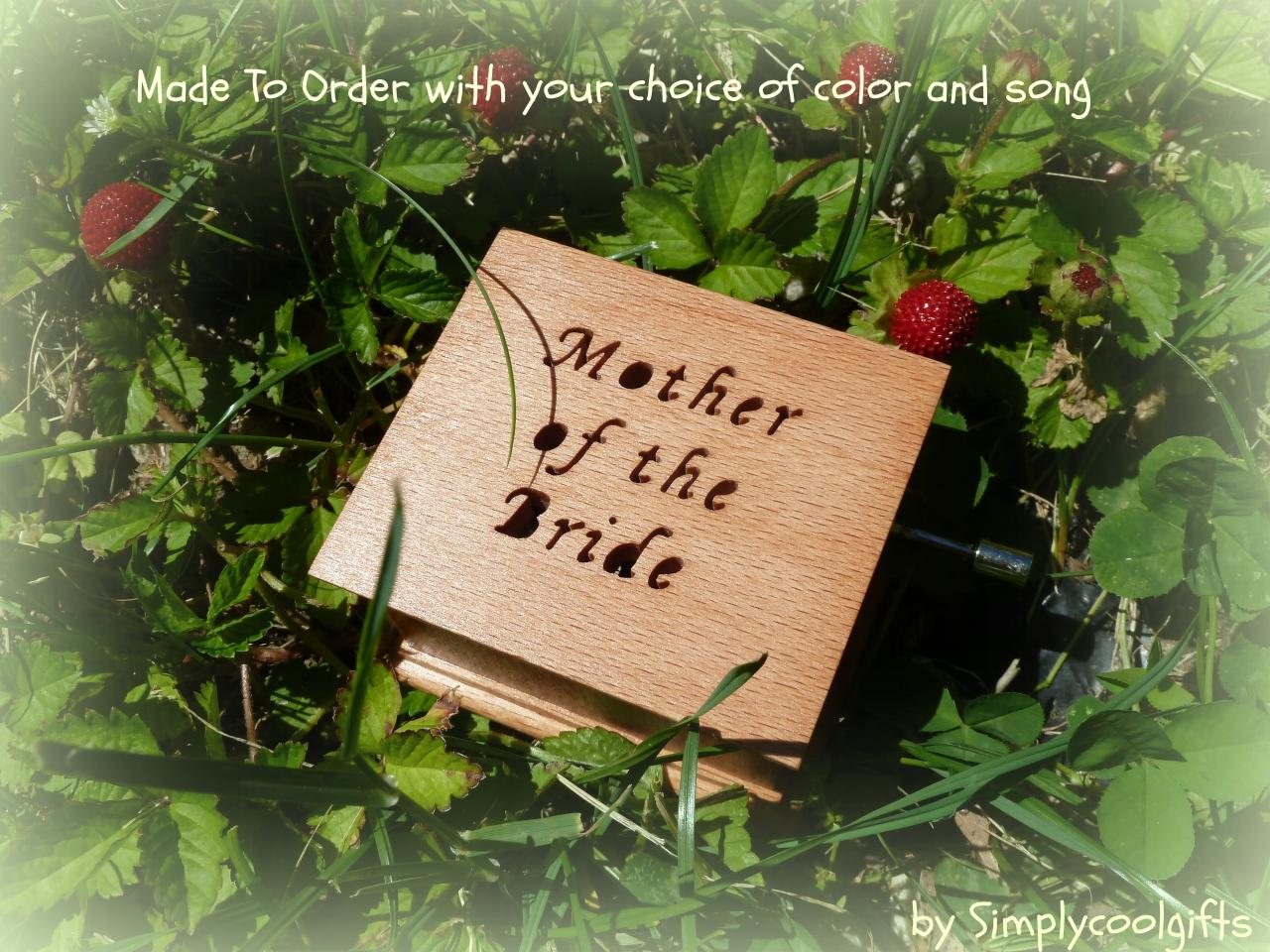 Music Box Wedding Music Box Custom Made Music Box Mother Of The Bride Gift Mother Of Bride